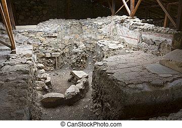 ancien, site, grec, archéologique, grèce, (remains, temple)