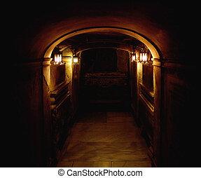ancien, sous-sol