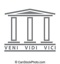 ancien, symbole, élément, culture, romain, rome, conception, historique, logo