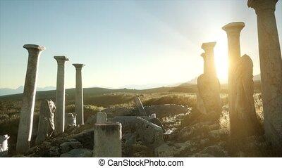 ancien, temple, italie, grec