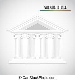 ancien, vecteur, colonnes