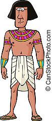 ancient, ægyptisk, beboeren