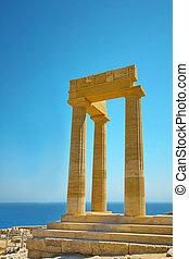 Ancient Acropolis in Rhodes. Greece
