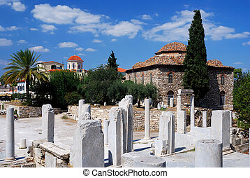 Ancient Agora of Athens and Fethiye Mosque are located to...