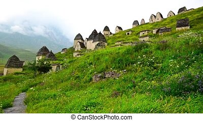 Ancient Alanian necropolis in North Ossetia - City of the...