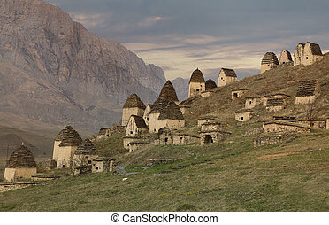 Ancient Alanian necropolis in North Ossetia, Russia