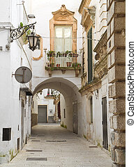 Ancient alley of Martina Franca. Apulia.