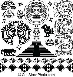 Ancient american design - Vector of ancient american design...