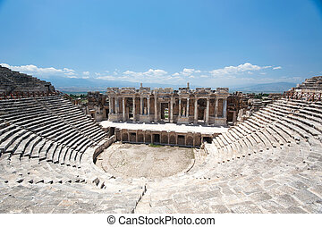 Ancient amphitheater in Pamukkale