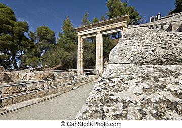Ancient amphitheater of Epidaurus at Peloponisos, Greece