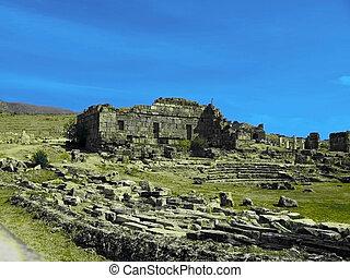 Ancient amphitheatre in Hierapolis, Turkey