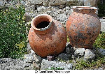 Ancient Amphorae in Nesebar