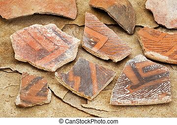 ancient Anasazi pottery shards - Arizona Anasazi pottery...