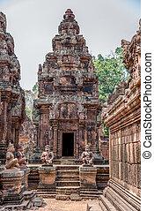 Ancient Angkor Ruins at Cambodia, Asia. Culture, Tradition, Religion. History.