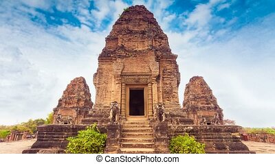 Ancient Angkor Wat, Cambodia. - Ancient buddhist khmer...