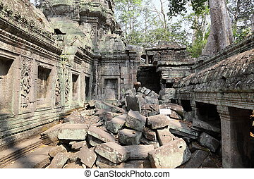 Ancient Angkor Wat ruins