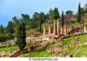 Ancient Apollo temple - The ruins of Apollo temple in...