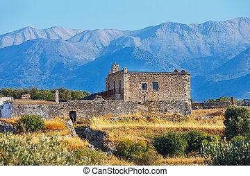Ancient Aptera on Crete island. Greece
