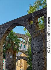 Ancient aqueduct in Italy