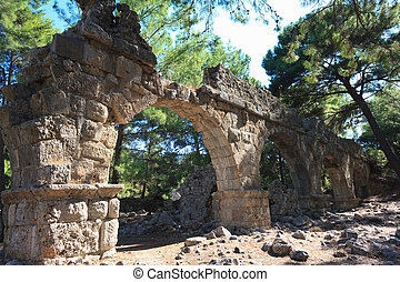 Ancient Aqueduct in Phaselis,Turkey
