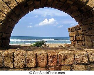 Ancient aqueduct. Israel
