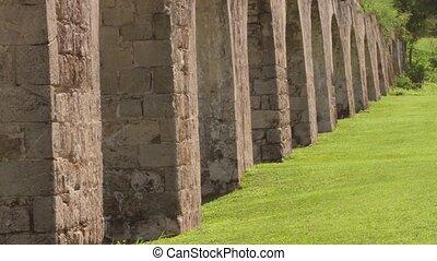 Ancient aqueduct tropical Jamaica