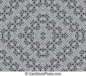 Ancient Arabesque Stone Ornament Pattern