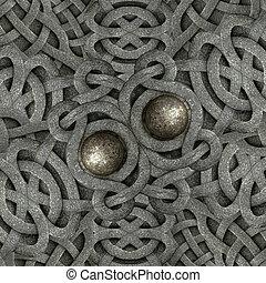 Ancient Arabesque Stone Ornament