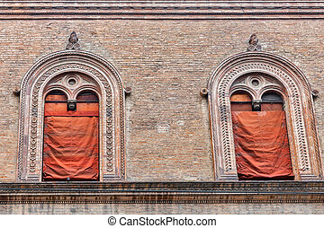 Ancient architecture in Bologna, Italy.