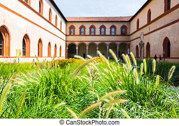 ancient architecture in the city of Bergamo