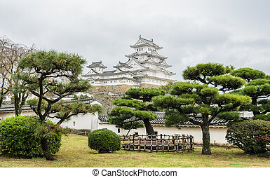 Ancient Architecture of Himeji Castle with Japanese garden ...