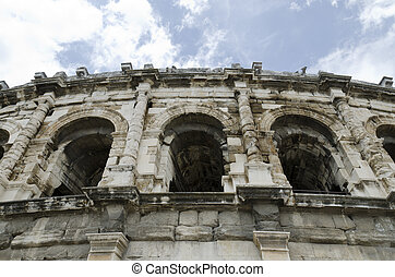 ancient arenas of Nimes, France