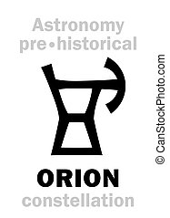 (ancient, astrology:, constellation), orion, neolítico, pre-historical