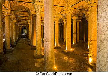 Ancient Basilica Cistern in Istanbul, Turkey