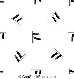 Ancient battle flags pattern seamless black - Ancient battle...