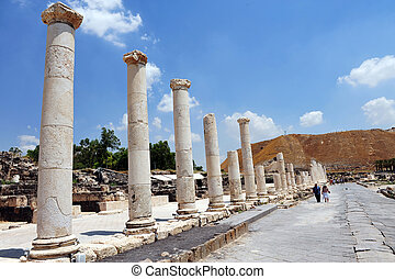 Ancient Beit Shean - Israel - BEIT SHEAN,ISR - JUNE...