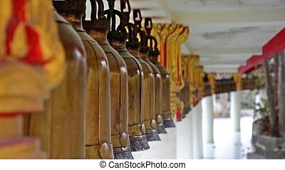 ancient bells in thai temple