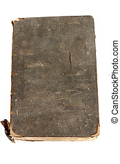 Ancient Book - Ancient Damaged Book over white