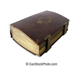 Ancient book - Ancient religious book isolated