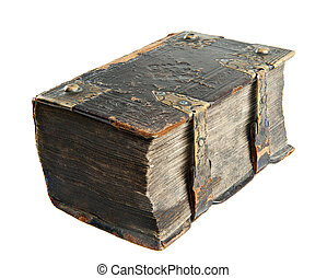 Ancient book - Very old book from the 18th century isolated...