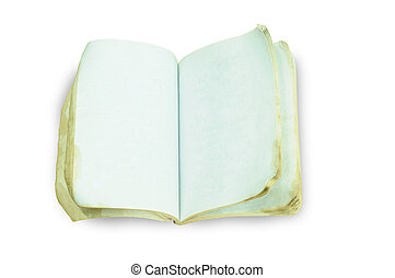 Ancient Book with clipping path