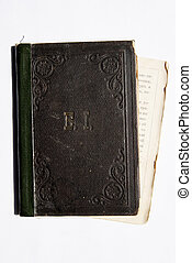 Ancient book with dark paper - Ancient book with the dark...