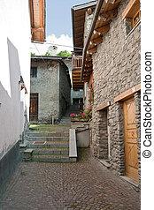 ancient borgo, La thuille, Italy