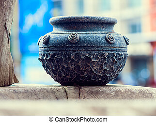 Ancient bowl isolated