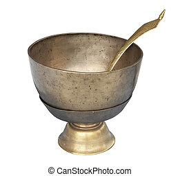 Ancient bowl with scoop for special ceremony