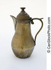 Ancient brass coffee pot