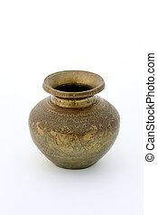 Ancient brass vase