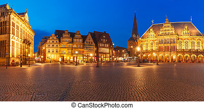 Ancient Bremen Market Square in Bremen, Germany