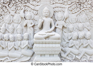 Ancient brick carving art of Buddha
