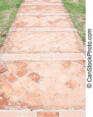 Ancient brick pathway.